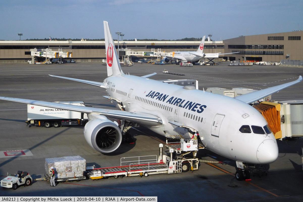 JA821J, 2010 Boeing 787-8 Dreamliner C/N 34831, At Narita