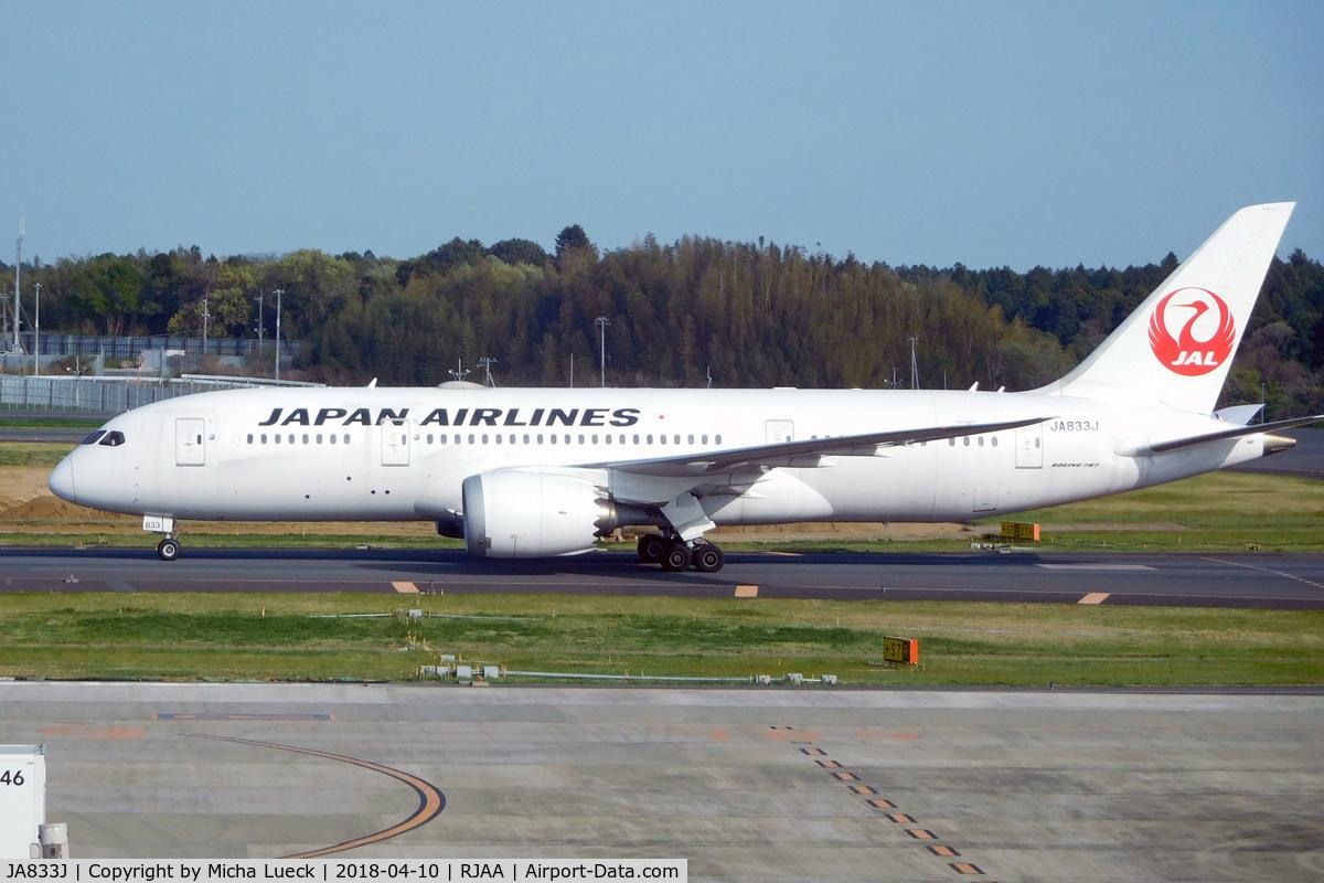 JA833J, 2013 Boeing 787-8 Dreamliner C/N 34846, At Narita