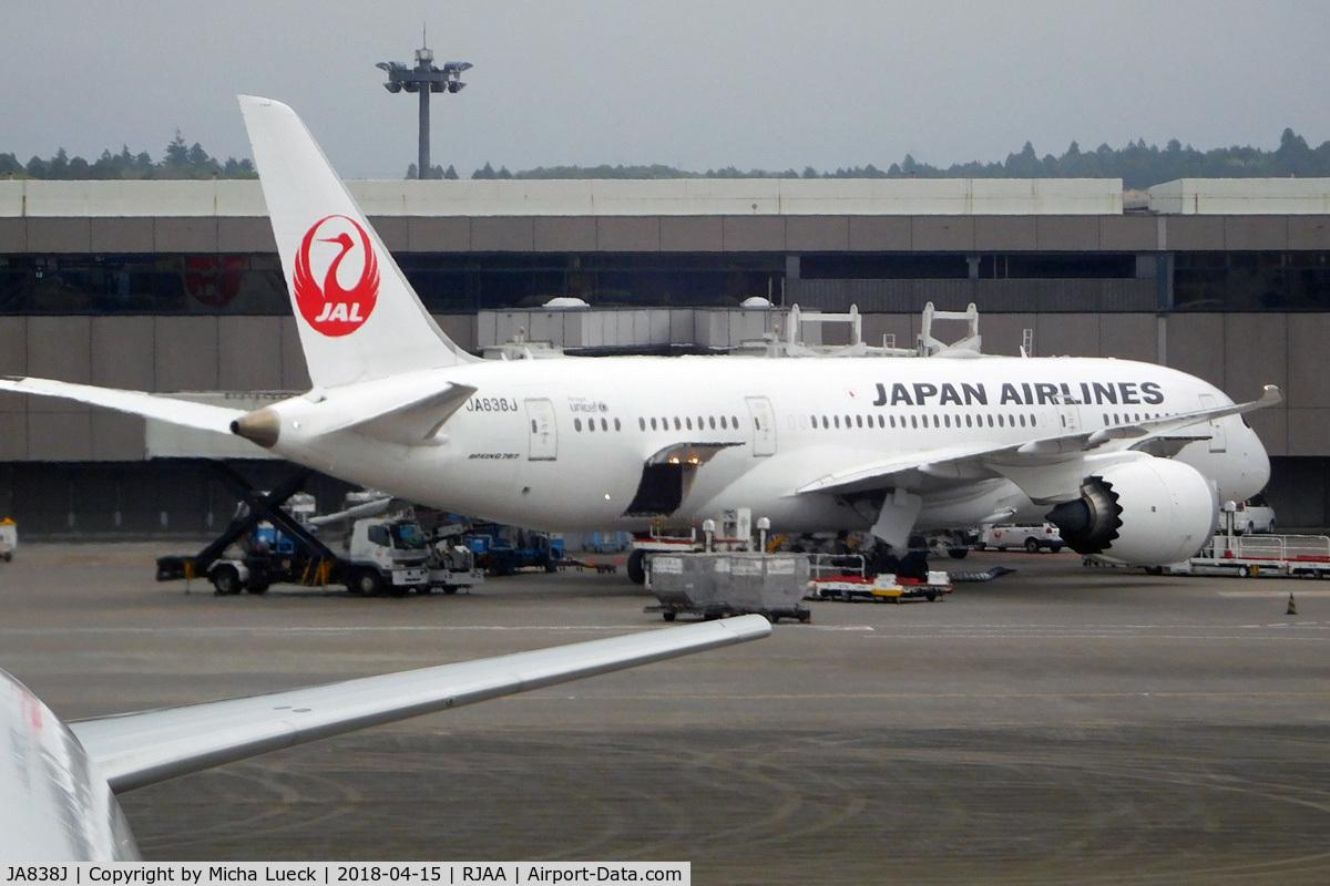 JA838J, 2014 Boeing 787-8 Dreamliner C/N 34849, At Narita