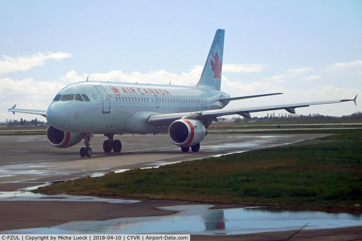 C-FZUL, 1997 Airbus A319-114 C/N 721, At Vancouver