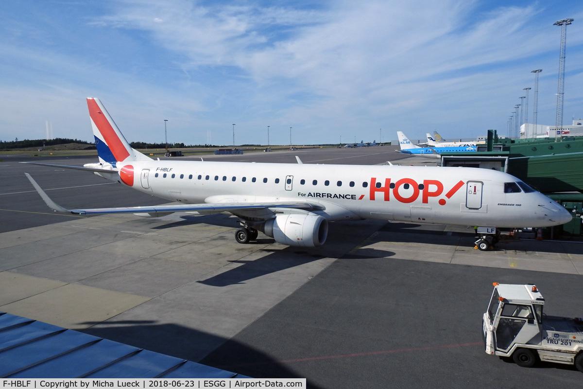 F-HBLF, 2008 Embraer 190AR (ERJ-190-100IGW) C/N 19000158, At Gothenburg