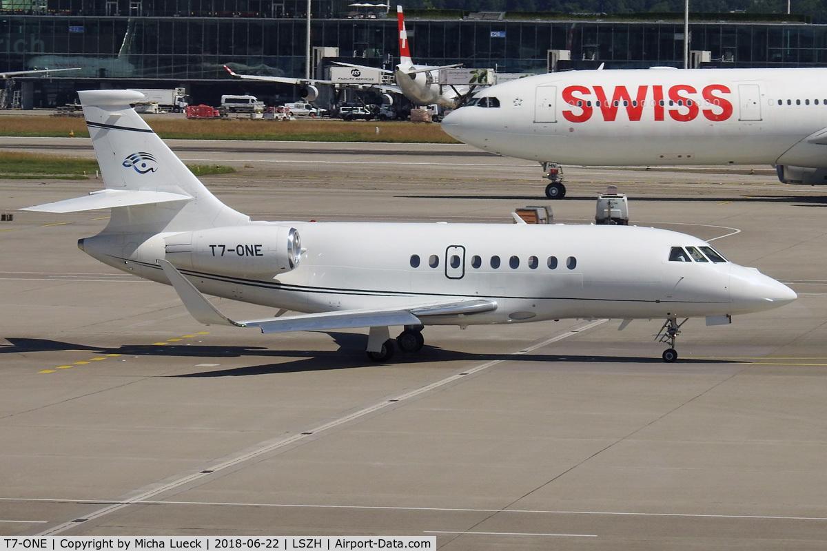 T7-ONE, 2011 Dassault Falcon 2000EX C/N 220, At Zurich