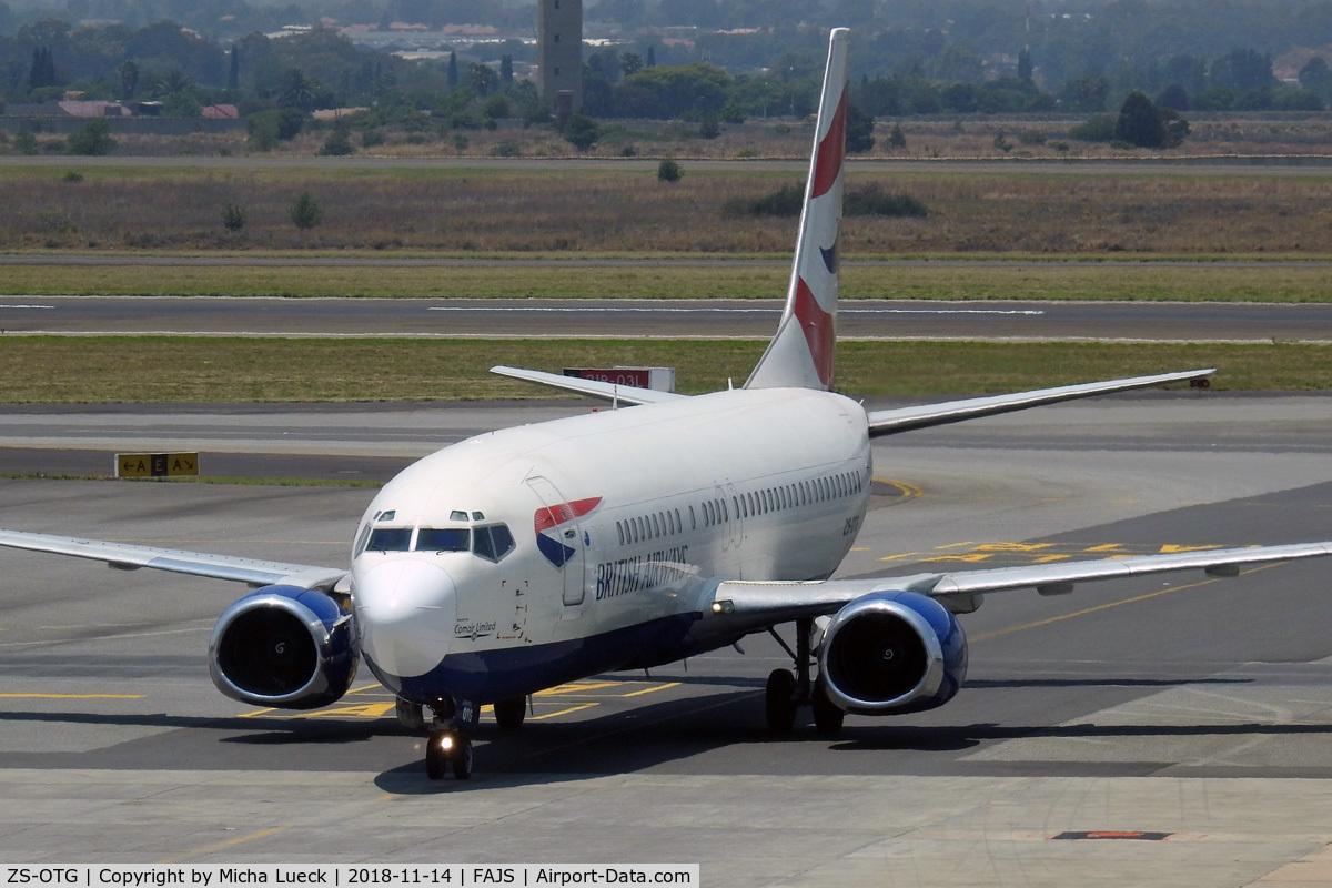 ZS-OTG, 1992 Boeing 737-436 C/N 25840, At O.R. Tambo