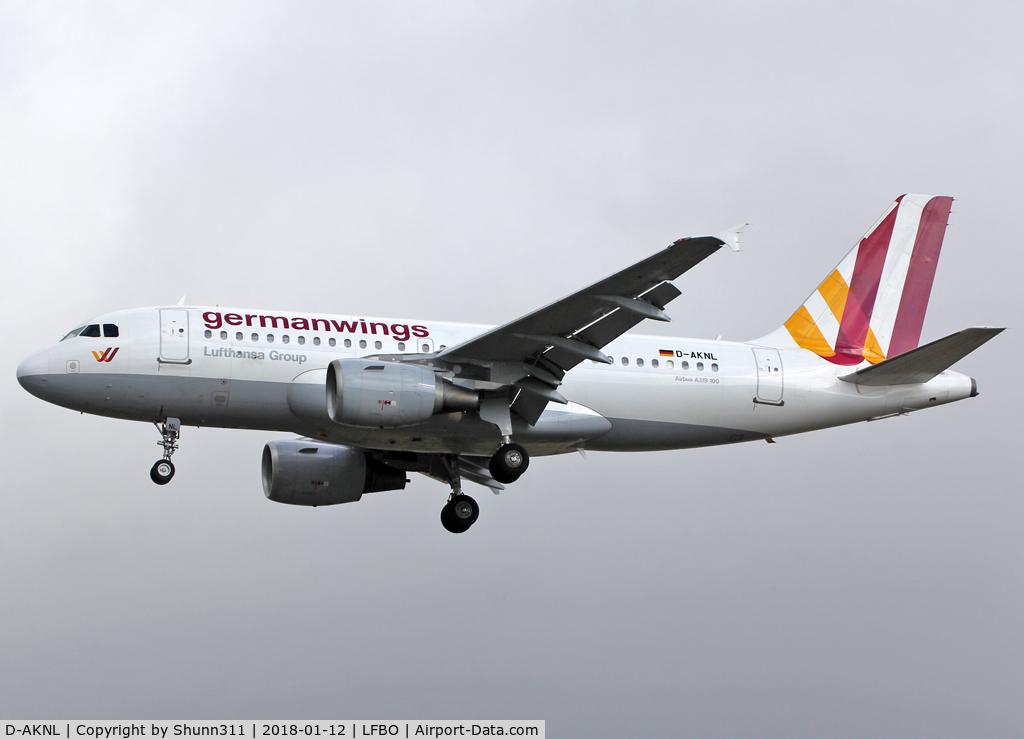 D-AKNL, 1999 Airbus A319-112 C/N 1084, Landing rwy 32L