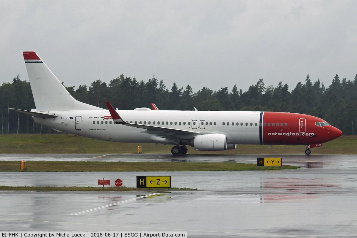 EI-FHK, 2015 Boeing 737-8JP C/N 41140, At Gothenburg