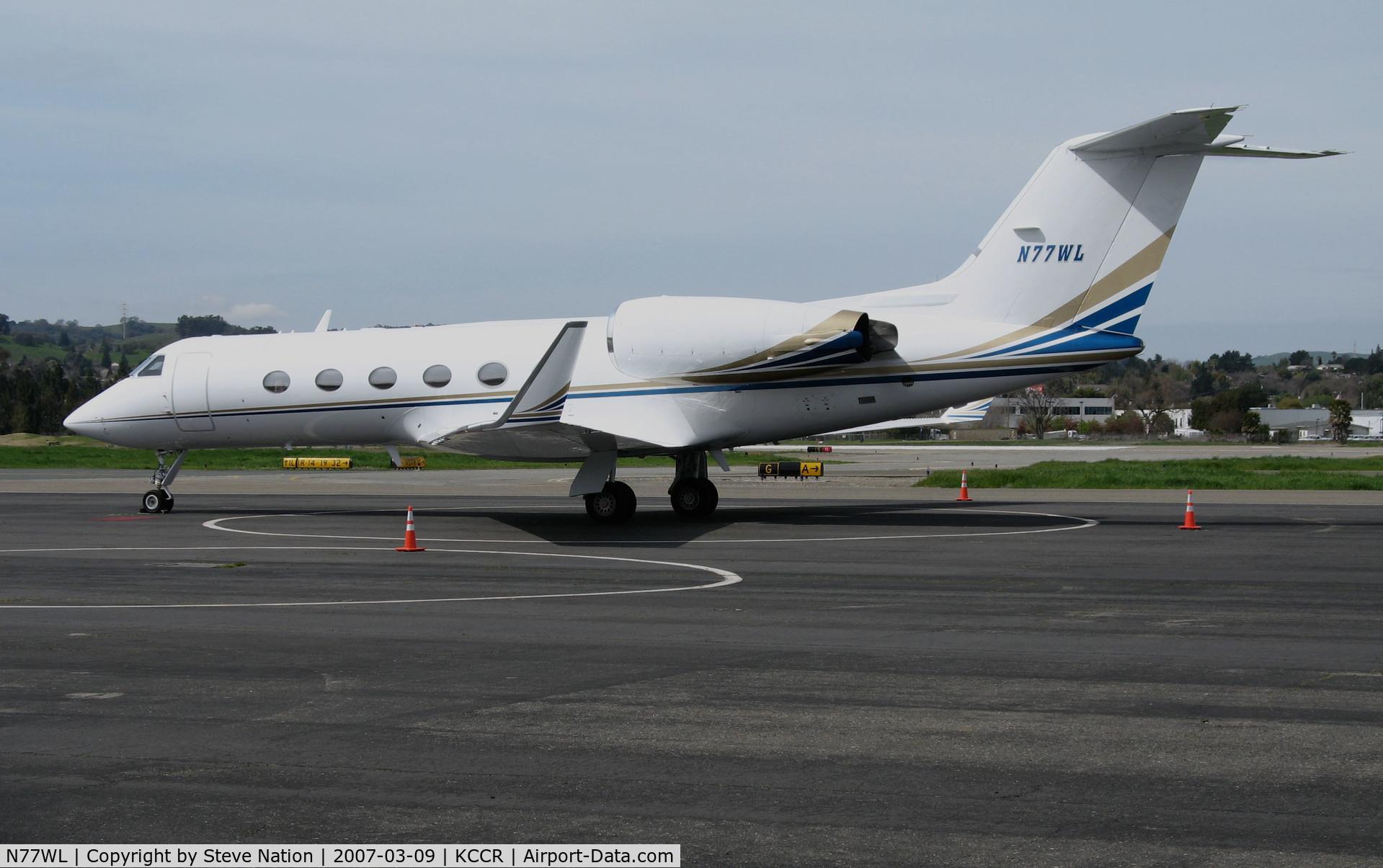 N77WL, 1990 Gulfstream Aerospace G-IV C/N 1140, Martin Aviation (Santa Ana, CA) 1990 Gulfstream Aerospace G-IV on Pacific Aviation ramp @ Buchanan Field (Concord, CA)