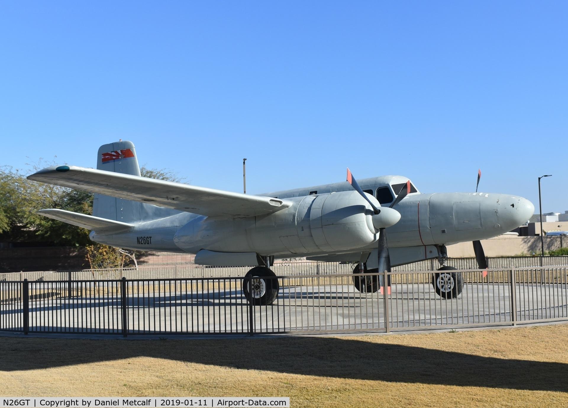 N26GT, Douglas A-26B Invader C/N 6934, Seen at South Mountain High School, Phoenix, AZ