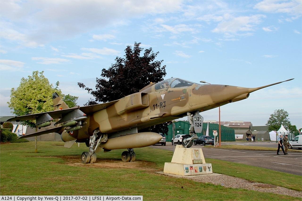 A124, Sepecat Jaguar A C/N A124, Sepecat Jaguar A (11-YD), Preserved at St Dizier-Robinson Air Base 113 (LFSI)