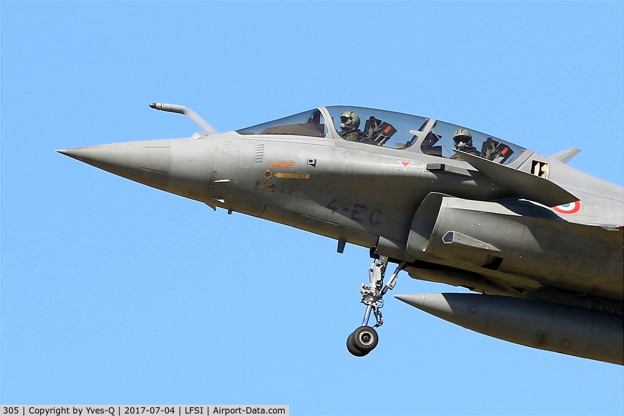 305, Dassault Rafale B C/N 305, Dassault Rafale B, Short approach rwy 29, St Dizier-Robinson Air Base 113 (LFSI)