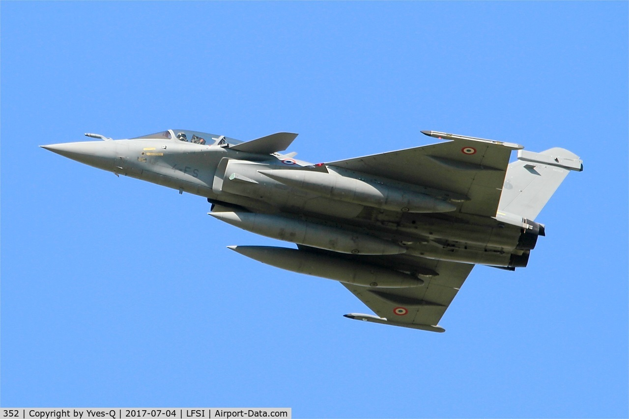 352, Dassault Rafale B C/N 352, Dassault Rafale B, Flight over St Dizier-Robinson Air Base 113 (LFSI)