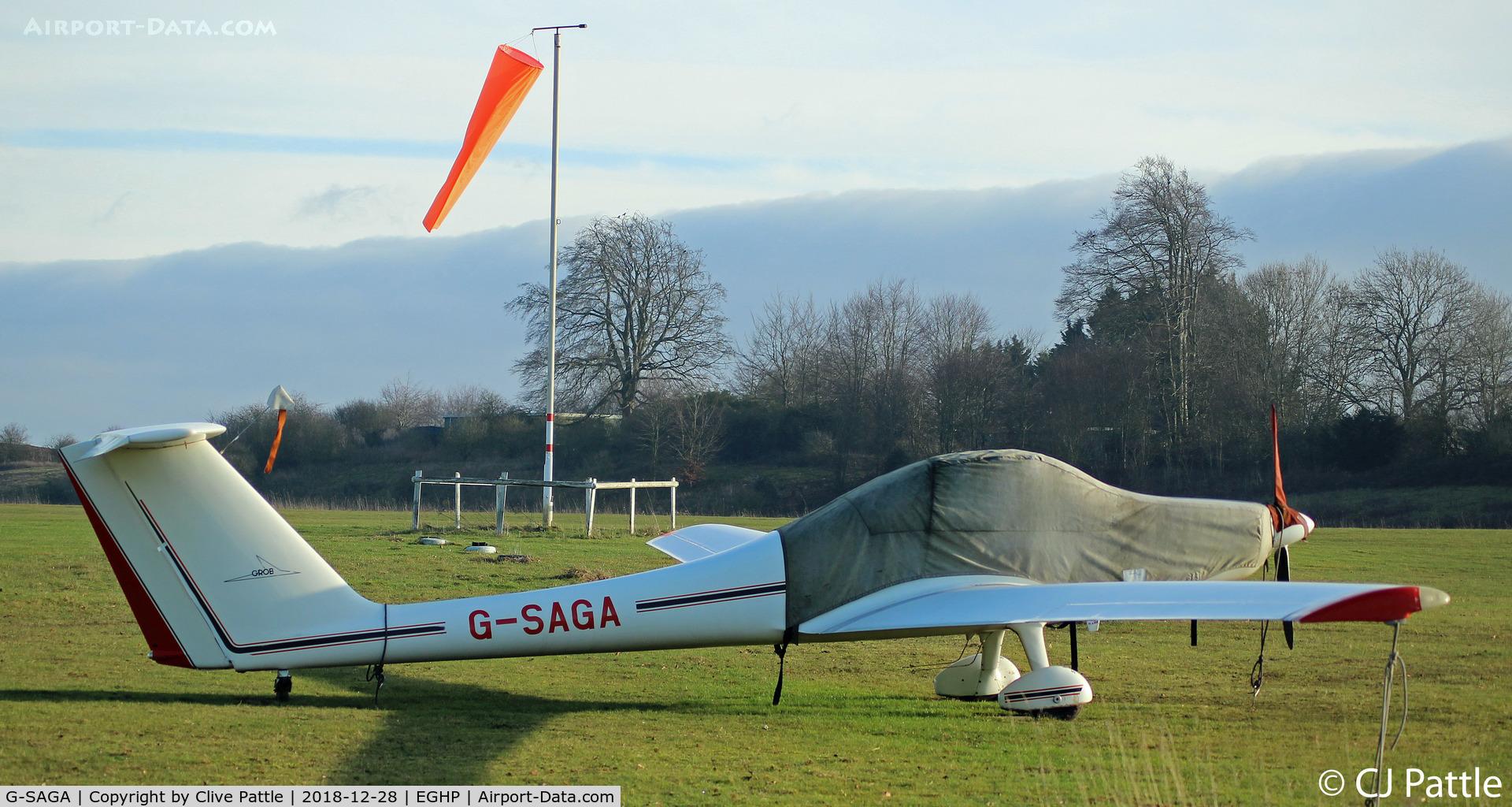 G-SAGA, 1985 Grob G-109B C/N 6364, At Popham