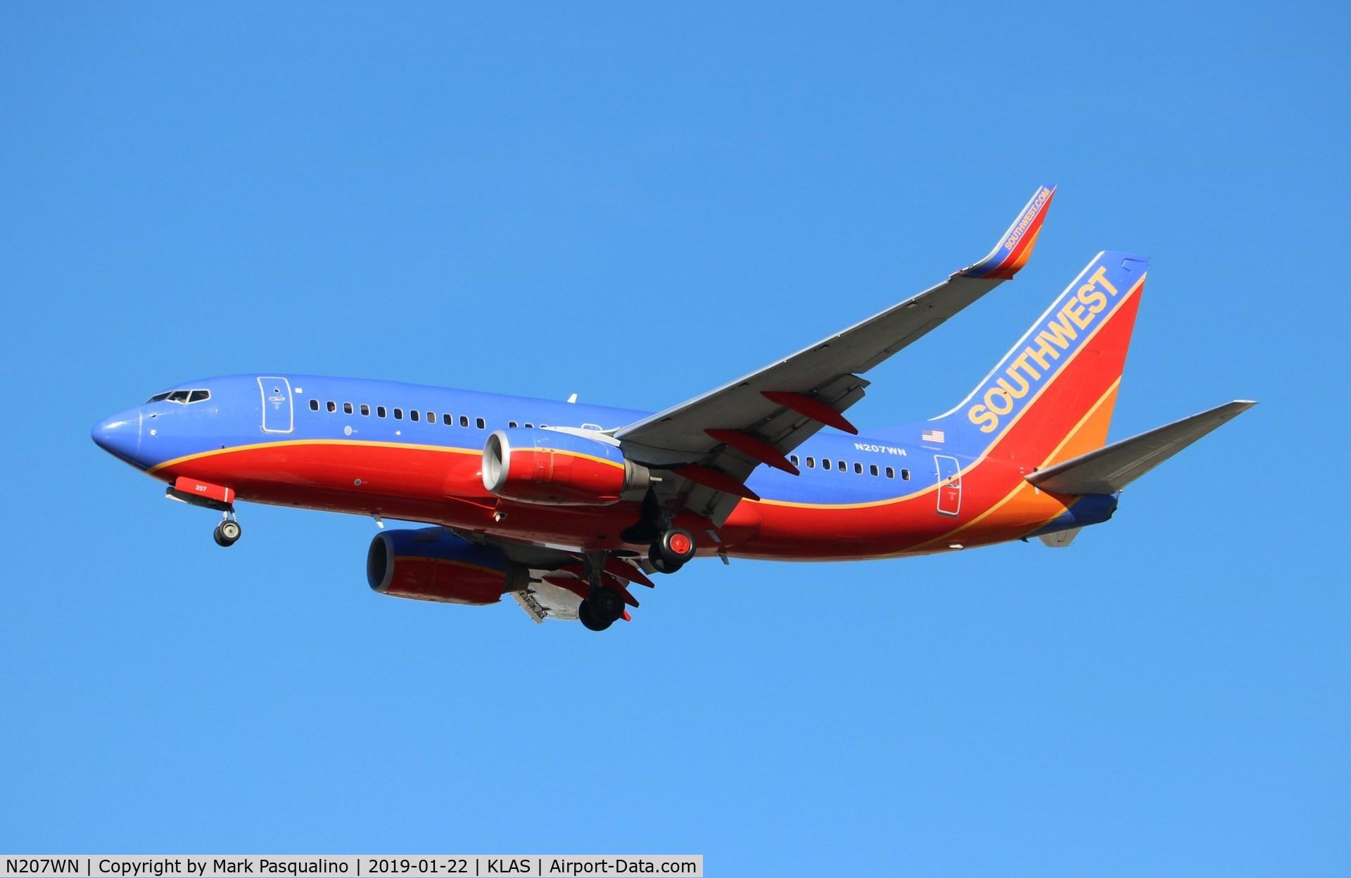 N207WN, 2005 Boeing 737-7H4 C/N 34012, Boeing 737-7H4