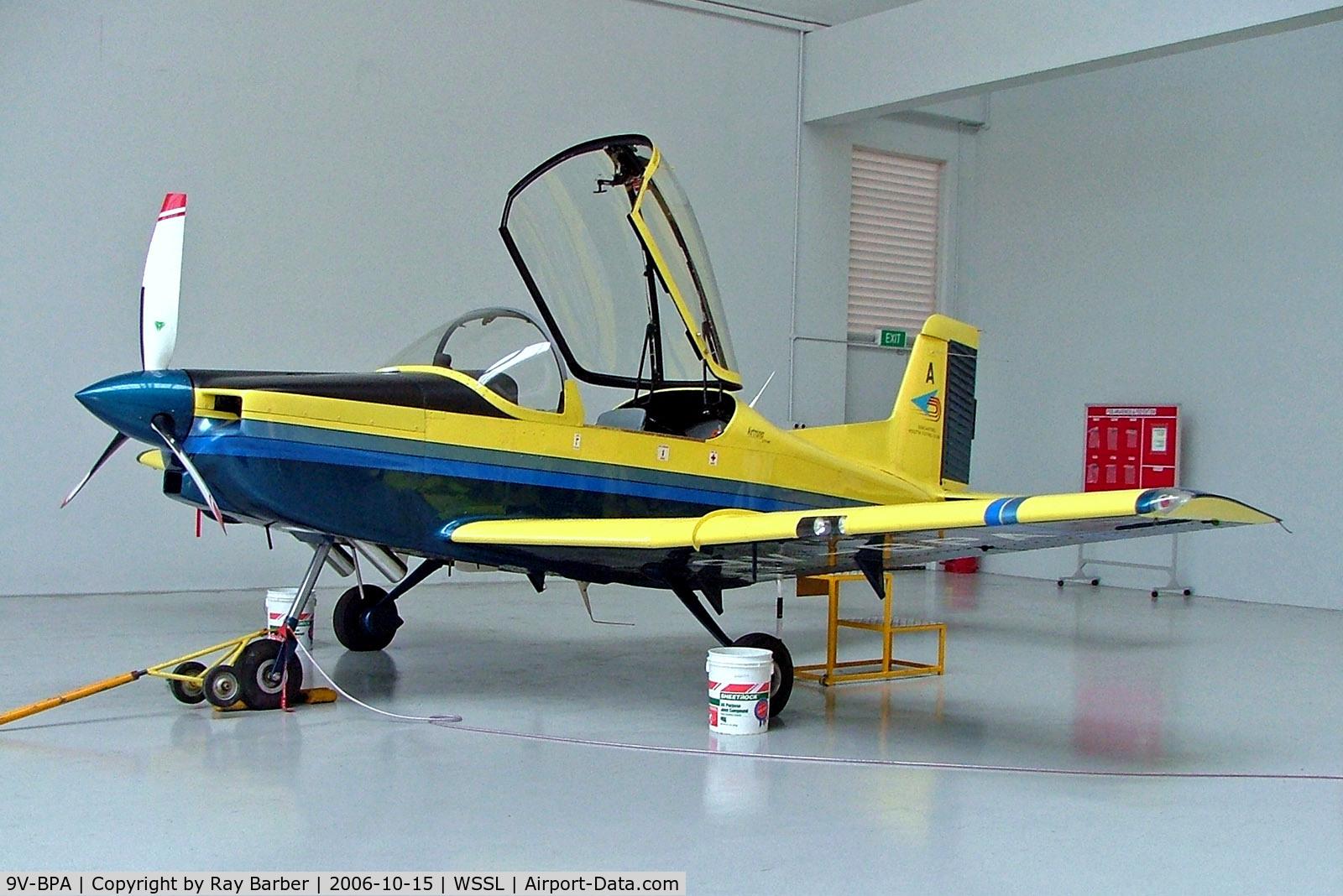 9V-BPA, 2002 Pacific Aerospace CT/4E Airtrainer C/N 231, 9V-BPA   Pacific Aerospace CT/4E Airtrainer [231] (Singapore Youth Flying Club) Seletar~9V 15/10/2006