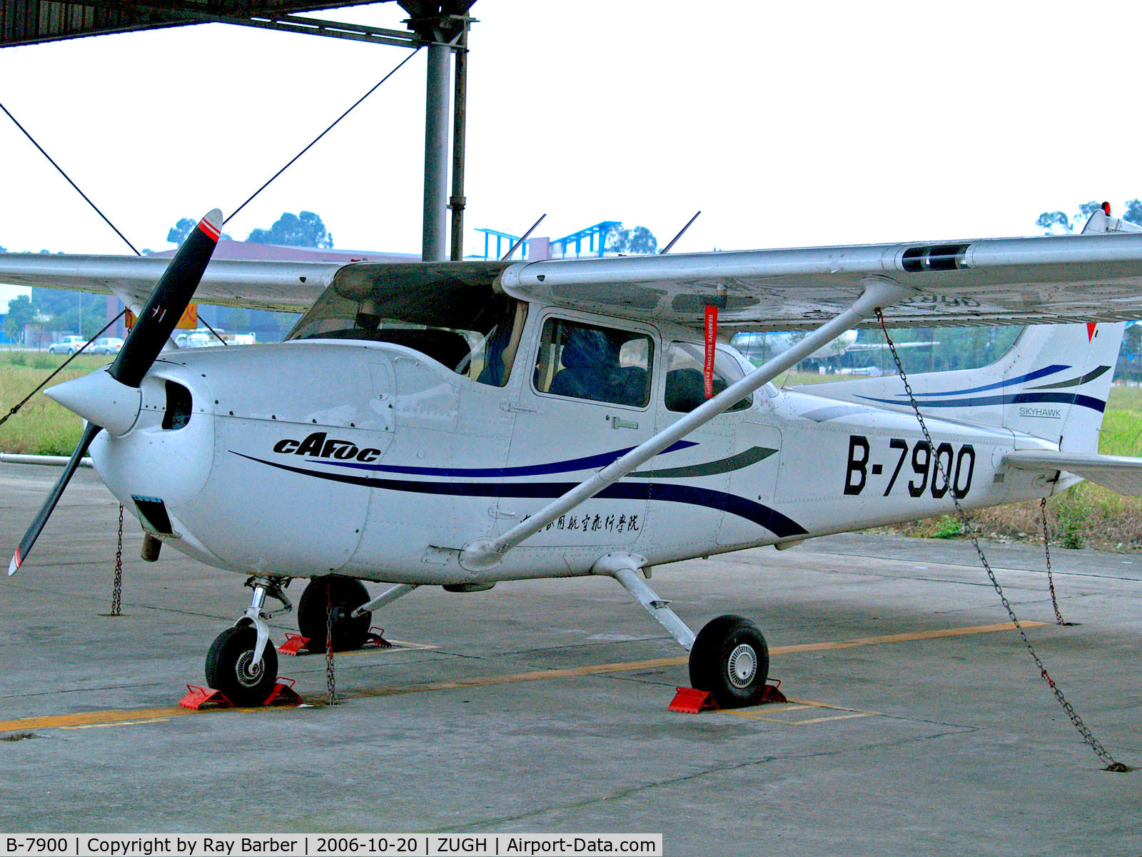 B-7900, 2006 Cessna 172R Skyhawk C/N 17281292, B-7900   Cessna 172R Skyhawk [172-81292] (Civil Aviation Flight University China) Gaunghan~B 20/10/2006