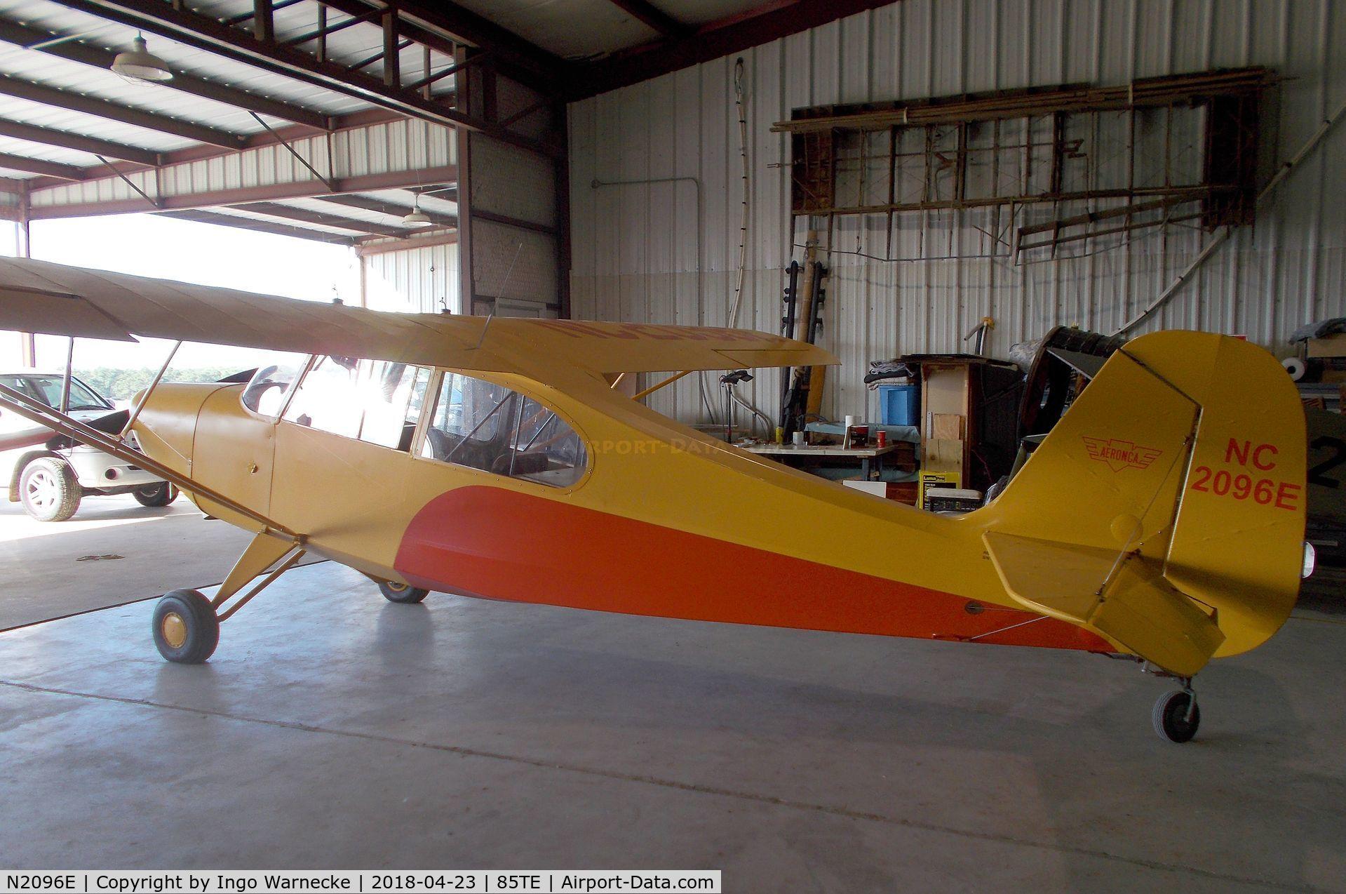N2096E, 1946 Aeronca 7AC Champion C/N 7AC-5666, Aeronca 7AC Champion at the Pioneer Flight Museum, Kingsbury TX