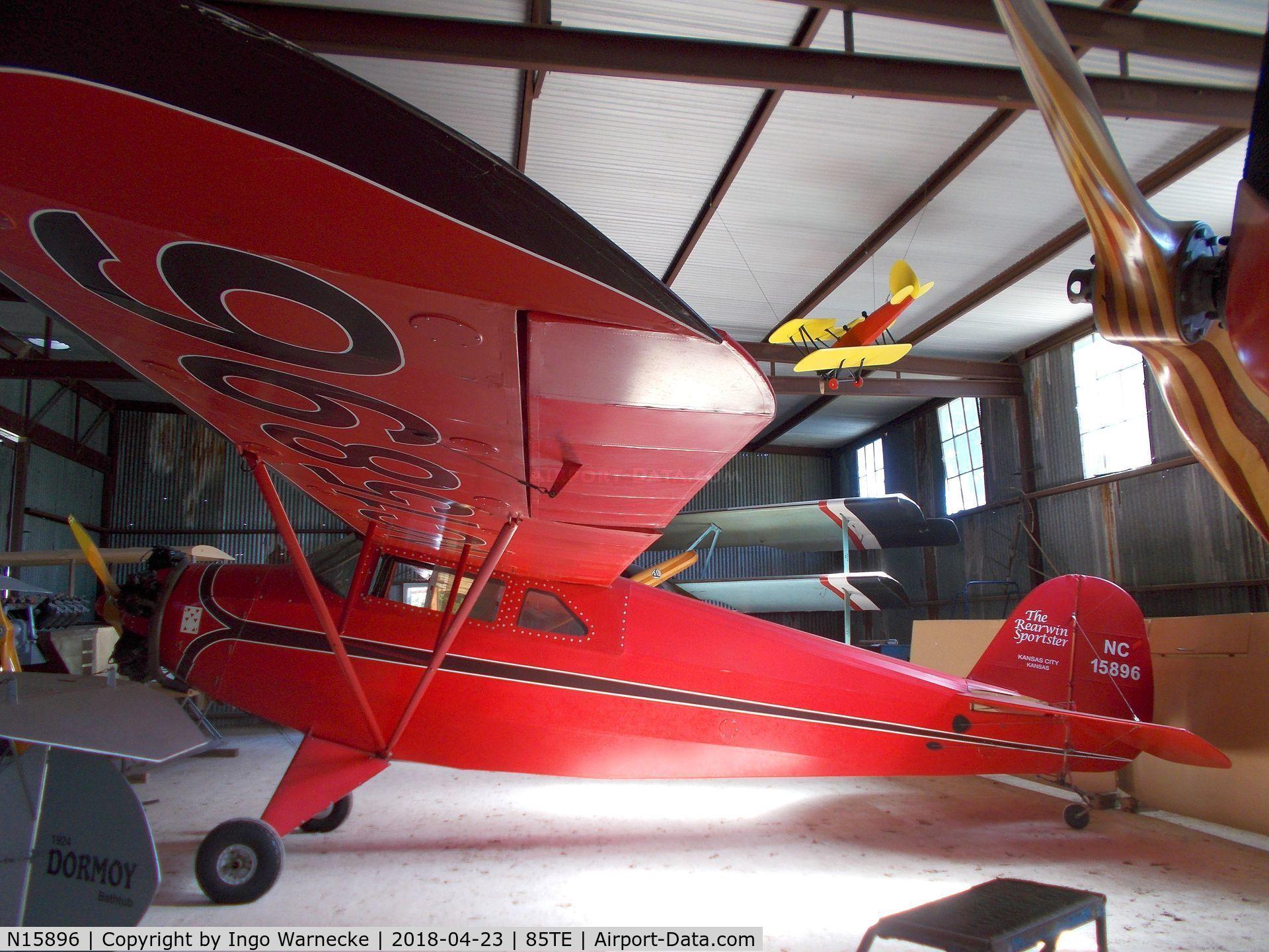 N15896, 1936 Rearwin 7000 C/N 477, Rearwin 7000 Sportster at the Pioneer Flight Museum, Kingsbury TX