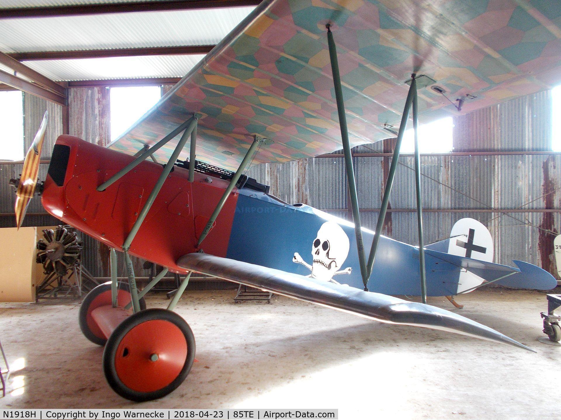 N1918H, Fokker D-VII Replica C/N VA3, Fokker D VII replica at the Pioneer Flight Museum, Kingsbury TX