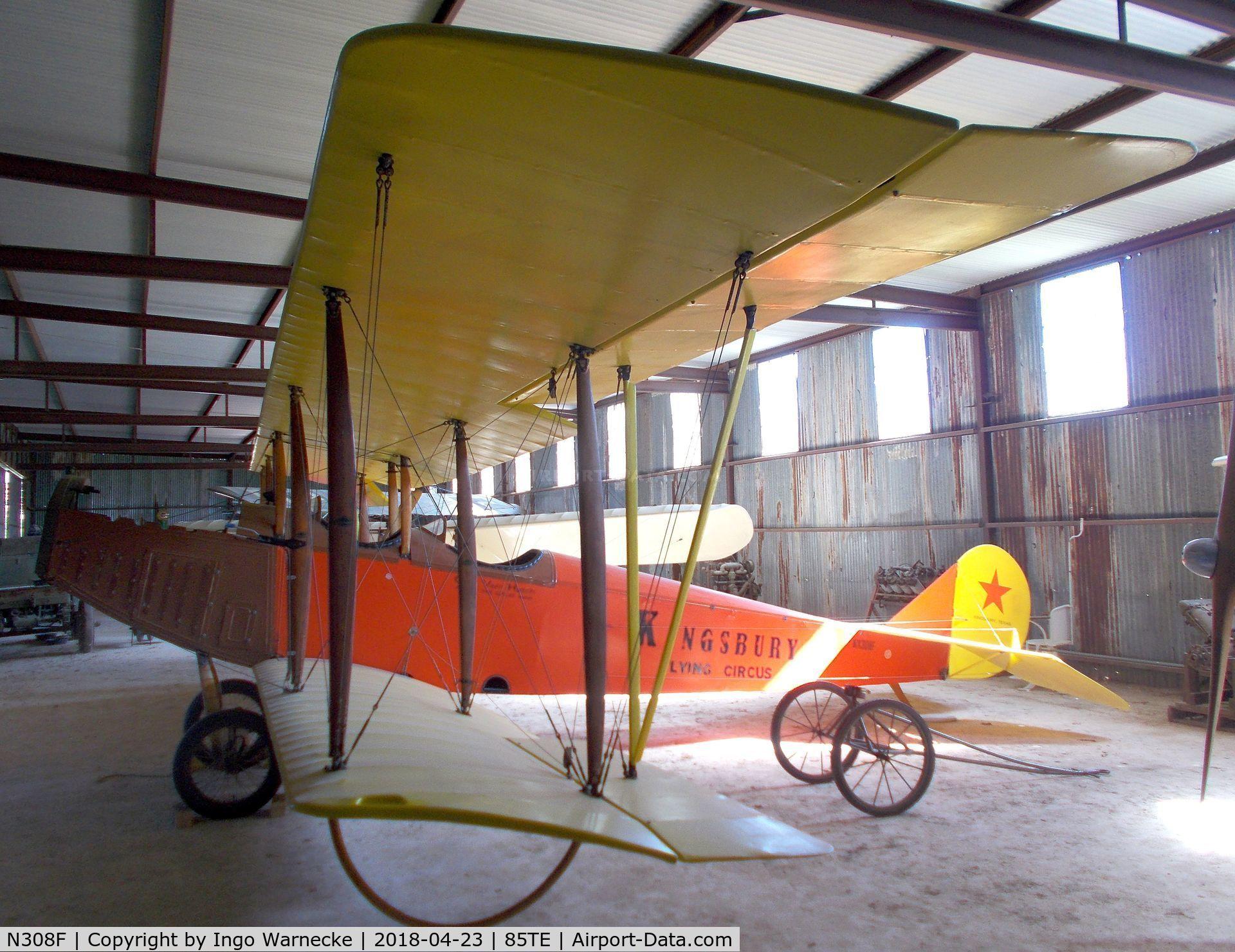 N308F, 2004 Curtiss JN-4C Jenny Replica C/N C-308, Curtiss JN-4C replica at the Pioneer Flight Museum, Kingsbury TX