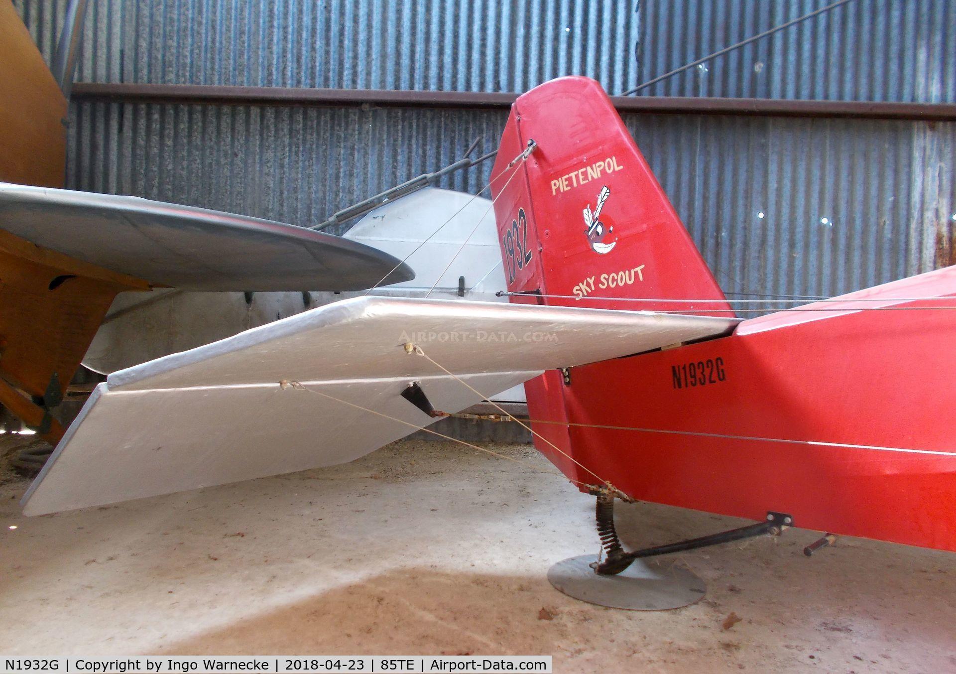 N1932G, Pietenpol Sky Scout C/N VA2, Pietenpol Sky Scout at the Pioneer Flight Museum, Kingsbury TX