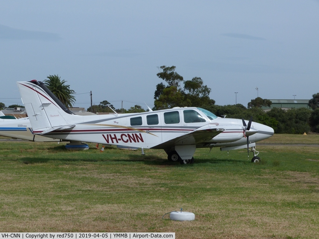 VH-CNN, 1998 Beech 58 Baron C/N TH-1868, Beech Baron VH-CNN at Moorabbin Apr 5 2019