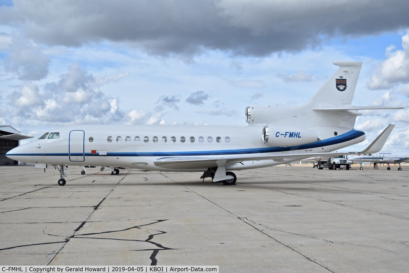 C-FMHL, 2012 Dassault Falcon 7X C/N 172, Parked on the sough GA ramp.