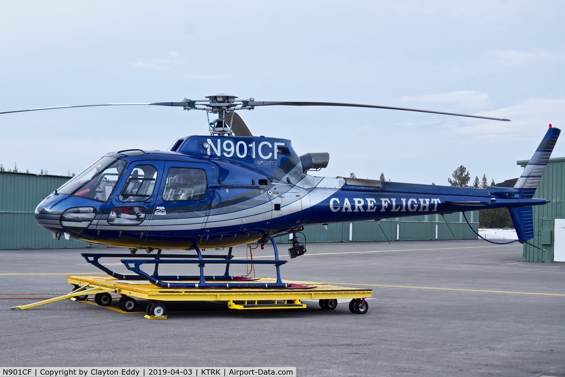 N901CF, 2006 Eurocopter AS-350B-3 Ecureuil C/N 4160, Truckee Airport California 2019.