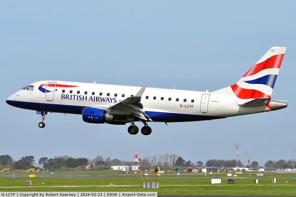 G-LCYF, 2009 Embraer 170STD (ERJ-170-100STD) C/N 17000298, Short finals R/W 28