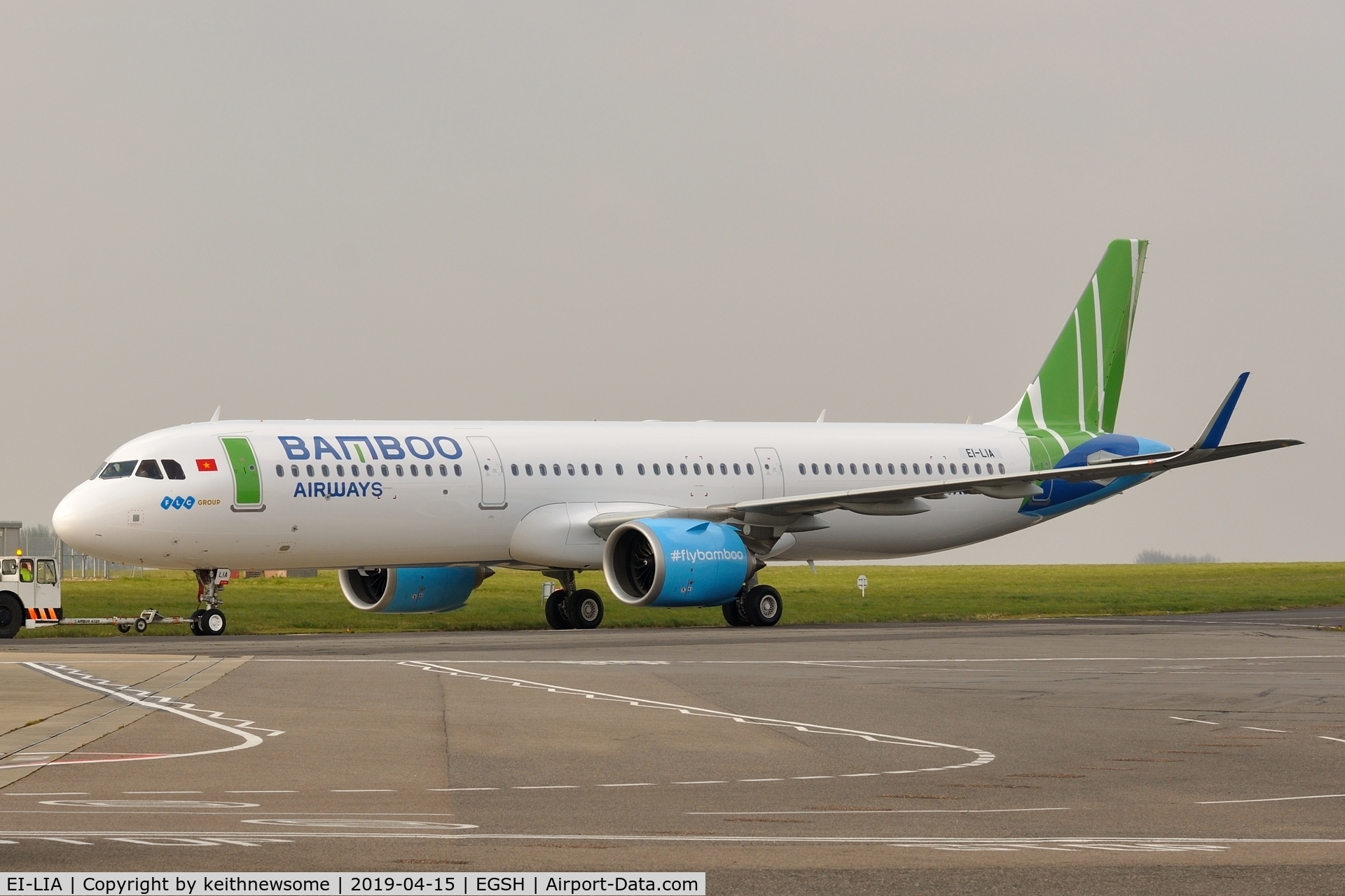EI-LIA, 2018 Airbus A321-251N C/N 8260, Removed from spray shop with Bamboo Airways colour scheme.