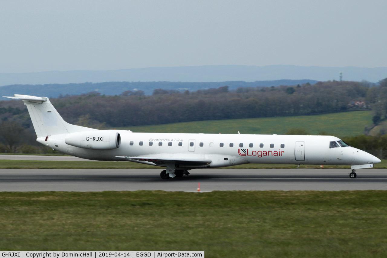 G-RJXI, 2001 Embraer EMB-145EP (ERJ-145EP) C/N 145454, Departing RWY 09