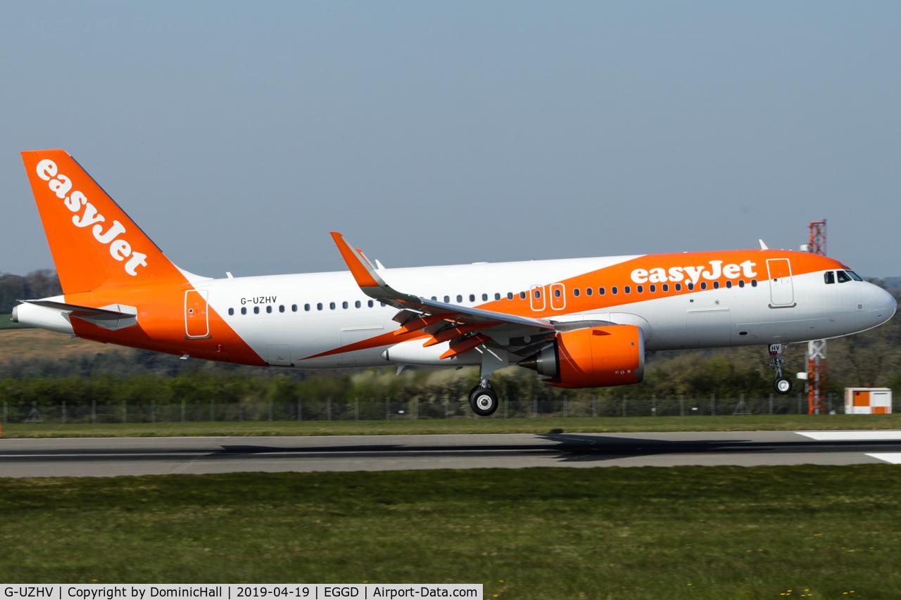 G-UZHV, 2019 Airbus A320-251N C/N 8722, Landing RWY 09