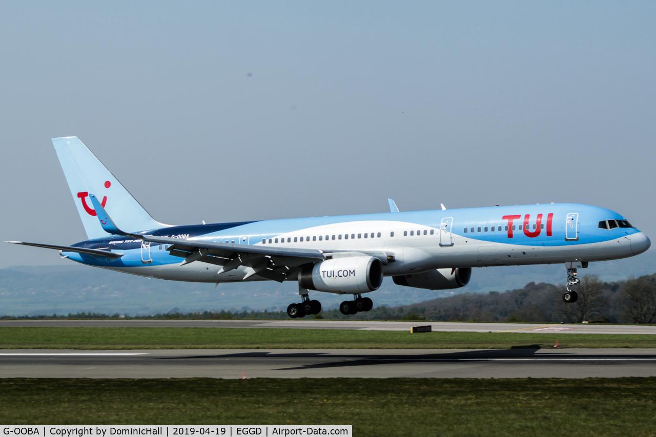 G-OOBA, 2000 Boeing 757-28A C/N 32446, Landing RWY 09
