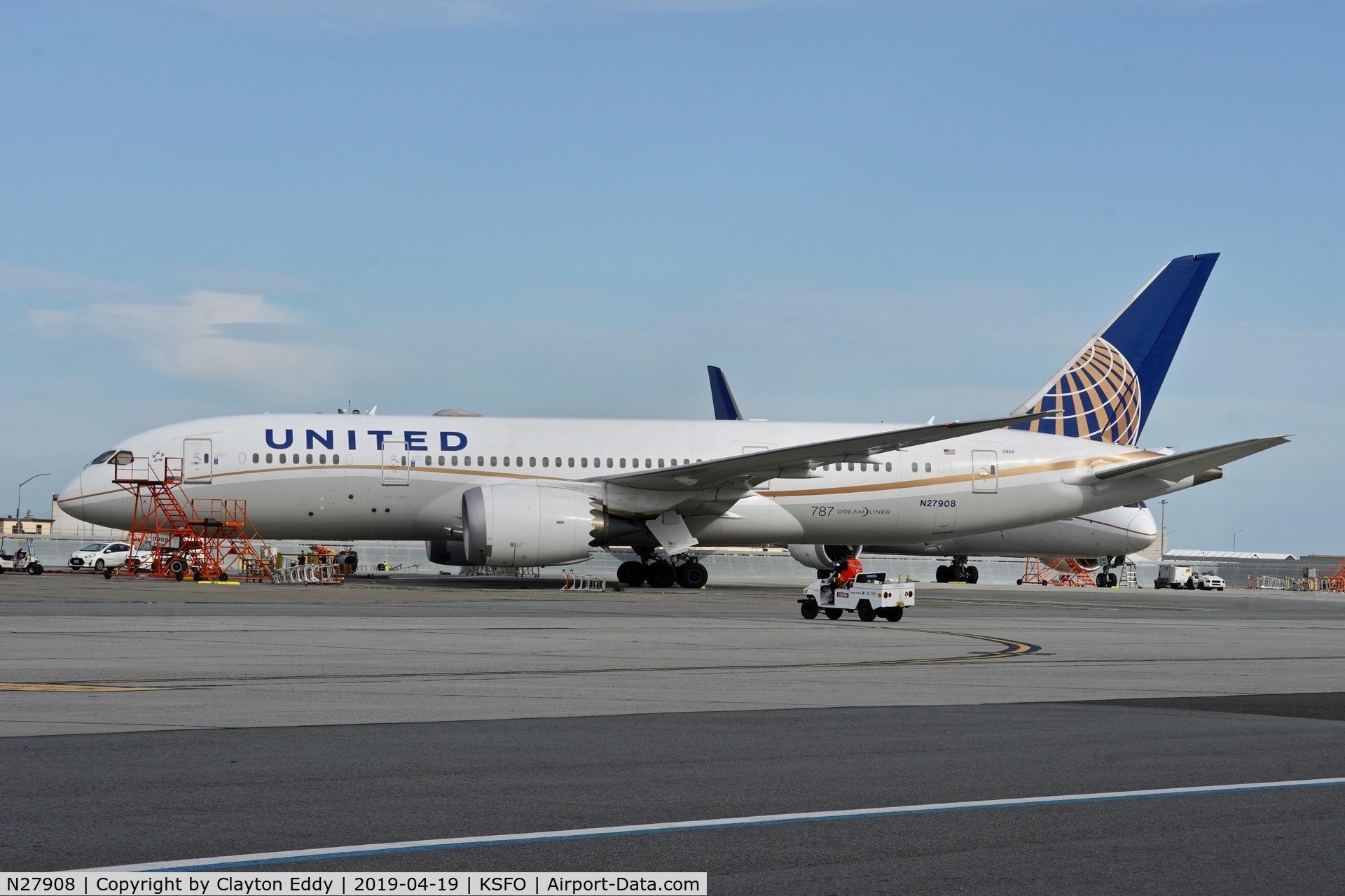 N27908, 2013 Boeing 787-8 Dreamliner C/N 36400, SFO 2019.