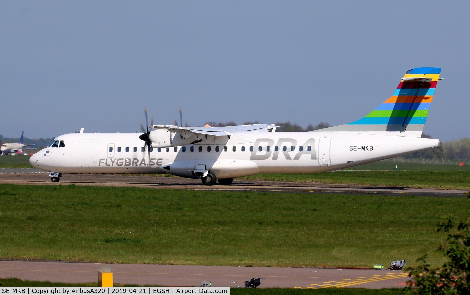 SE-MKB, 2015 ATR 72-212A C/N 1308, Departing for Rwy 09