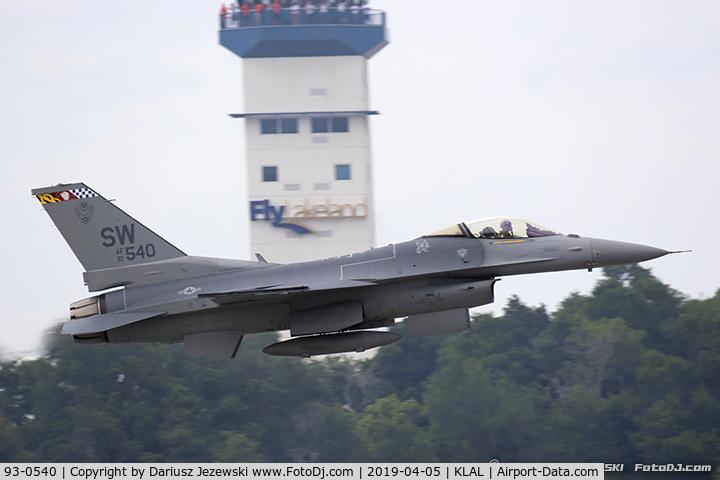 93-0540, 1993 Lockheed F-16C Fighting Falcon C/N CC-175, F-16CJ Fighting Falcon 93-0540 SW from 55th FS