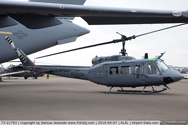 73-21793, 1973 Bell TH-1H Iroquois C/N 13481, TH-1H Iroquoise (Huey) 73-21793 FR from 23rd FS 58th OG Fort Rucker, AL