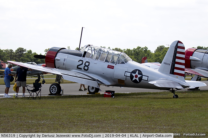 N56319, 1941 Consolidated Vultee BT-13A C/N 2167, Consolidated Vultee BT-13A Valiant