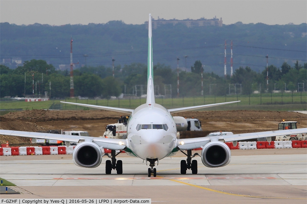 F-GZHF, 2009 Boeing 737-8K2 C/N 29677, Boeing 737-8K2, Taxiing to holding point, Paris-Orly airport (LFPO-ORY)