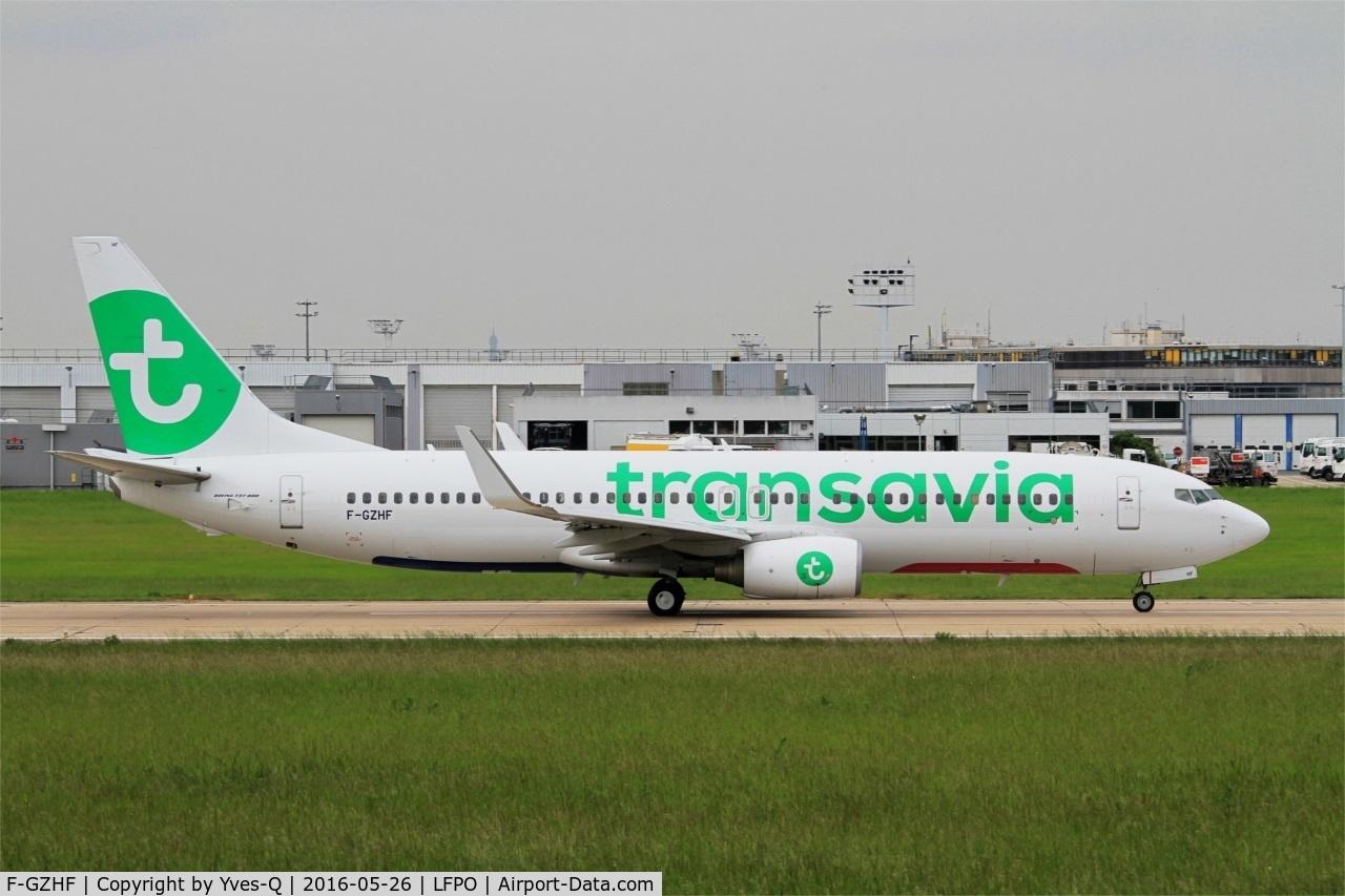 F-GZHF, 2009 Boeing 737-8K2 C/N 29677, Boeing 737-8K2, Take off run rwy 08, Paris-Orly airport (LFPO-ORY)