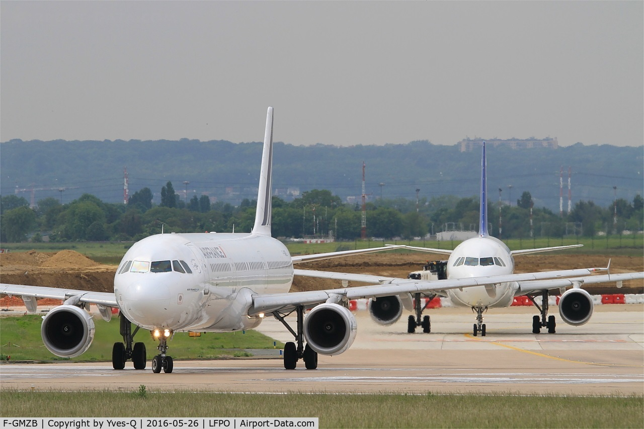 F-GMZB, 1994 Airbus A321-111 C/N 0509, Airbus A321-111, Lining up rwy 08, Paris-Orly airport (LFPO-ORY)