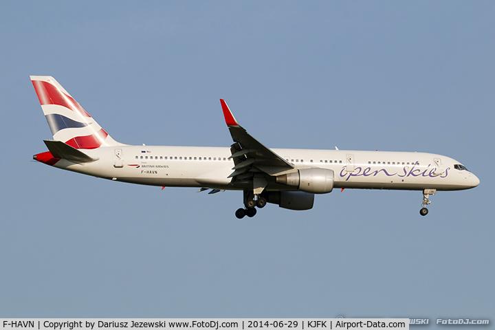 F-HAVN, 1991 Boeing 757-230 C/N 25140, Boeing 757-230 - OpenSkies (British Airways)   C/N 25140, F-HAVN
