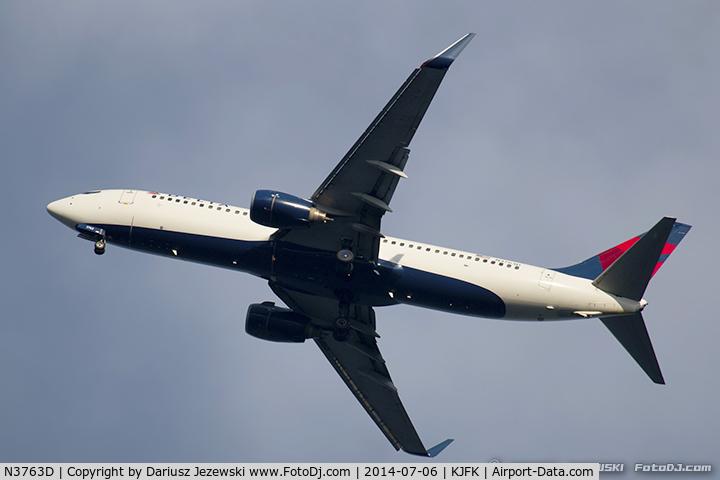 N3763D, 2001 Boeing 737-832 C/N 29629, Boeing 737-832 - Delta Air Lines  C/N 29629, N3763D
