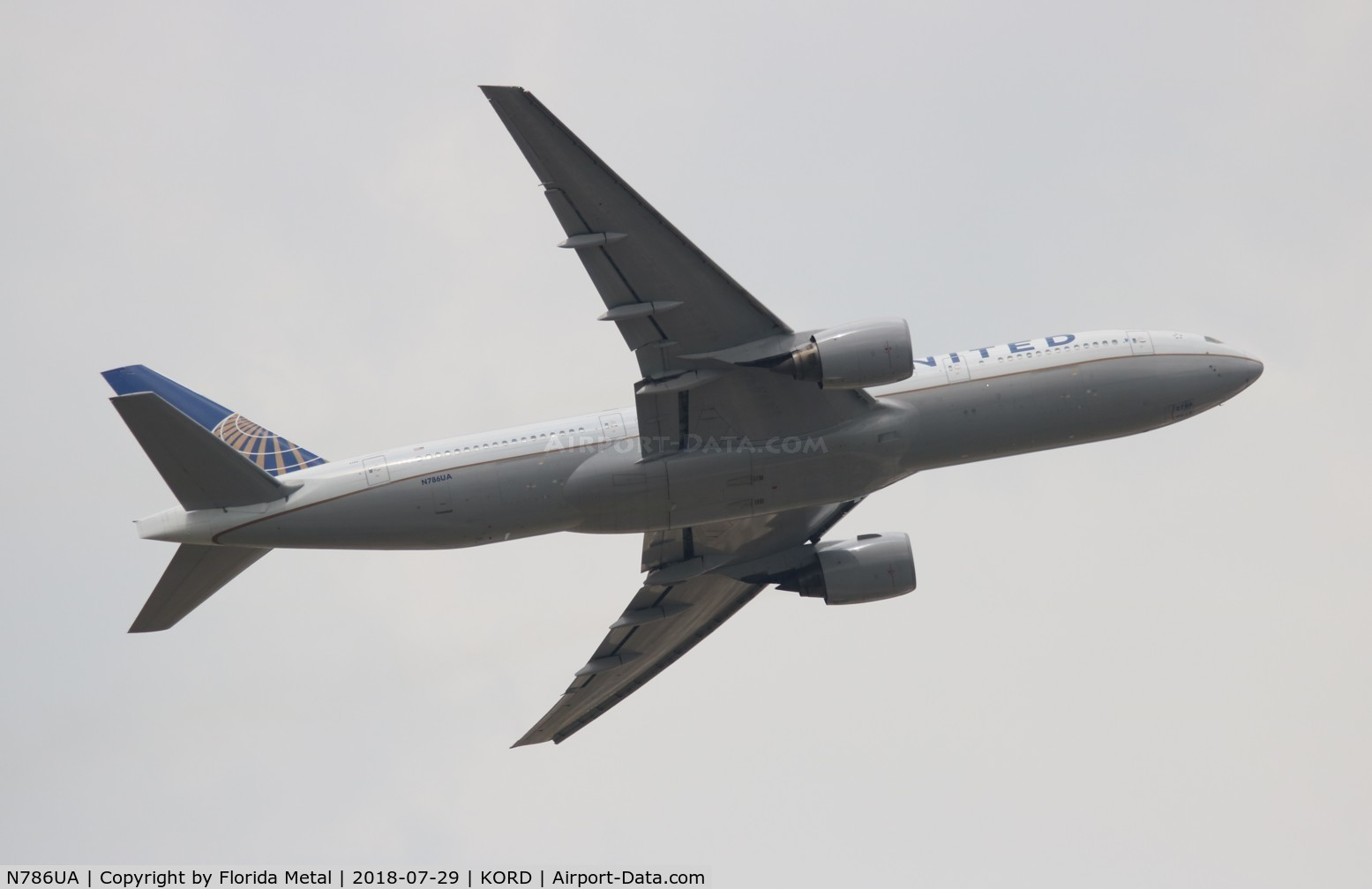 N786UA, 1997 Boeing 777-222 C/N 26938, United