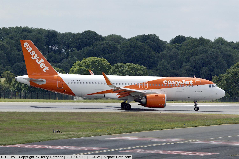 G-UZHW, 2019 Airbus A320-251N C/N 8759, At Luton
