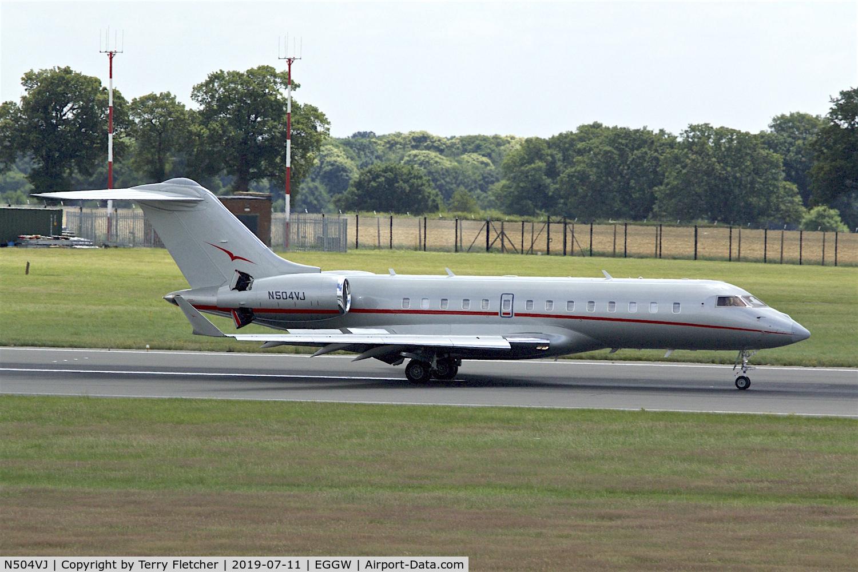N504VJ, 2013 Bombardier BD-700-1A11 Global 5000 C/N 9566, At Luton