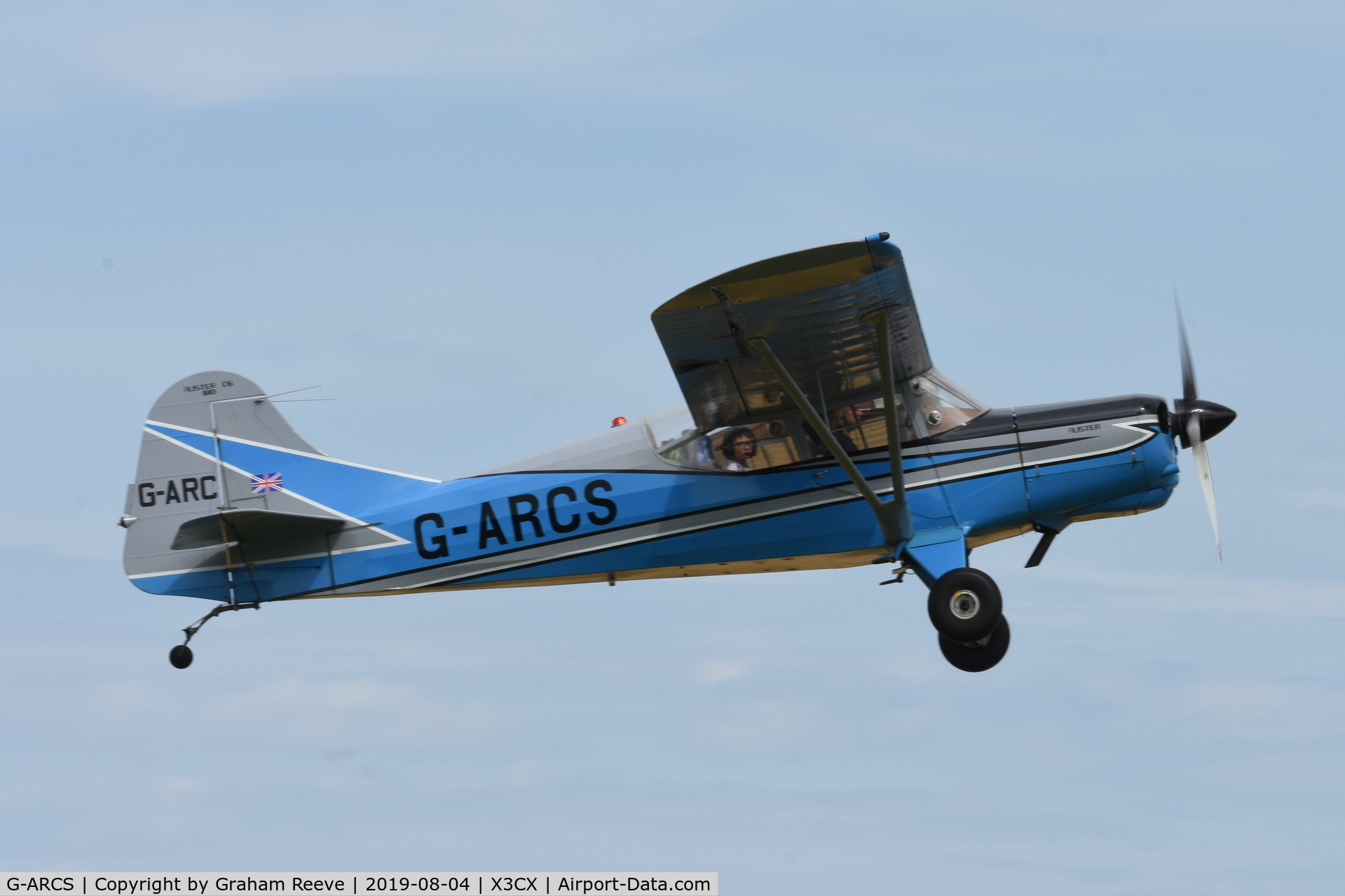 G-ARCS, 1960 Auster D6-180 C/N 3703, Departing from Northrepps.