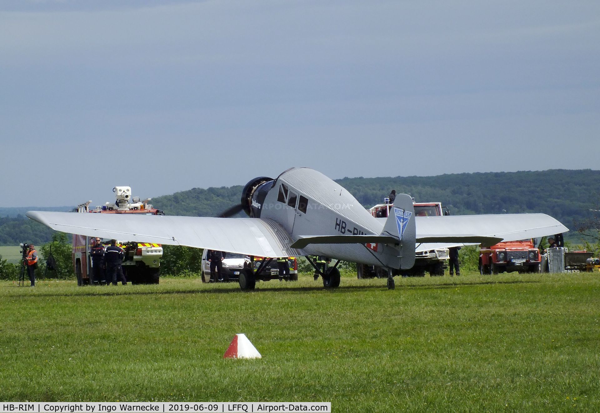 HB-RIM, 2015 Rimowa/Junkers F-13 C/N 1, Rimowa / Junkers F 13 replica (with radial engine) at the Meeting Aerien 2019, La-Ferte-Alais
