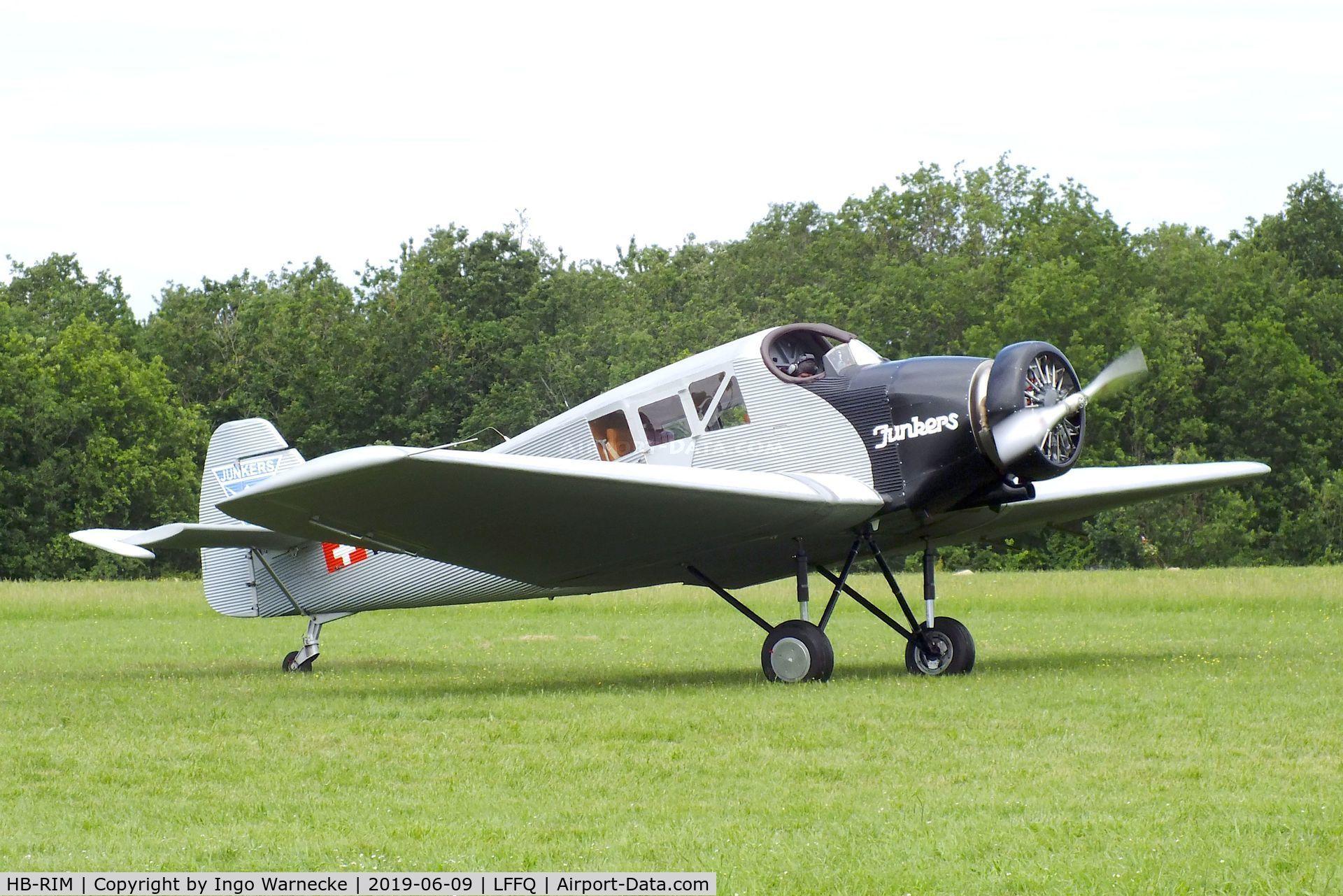 HB-RIM, 2015 Rimowa/Junkers F-13 C/N 1, Rimowa / Junkers F 13 replica (with radial engine) at the Meeting Aerien 2019, La-Ferte-Alais