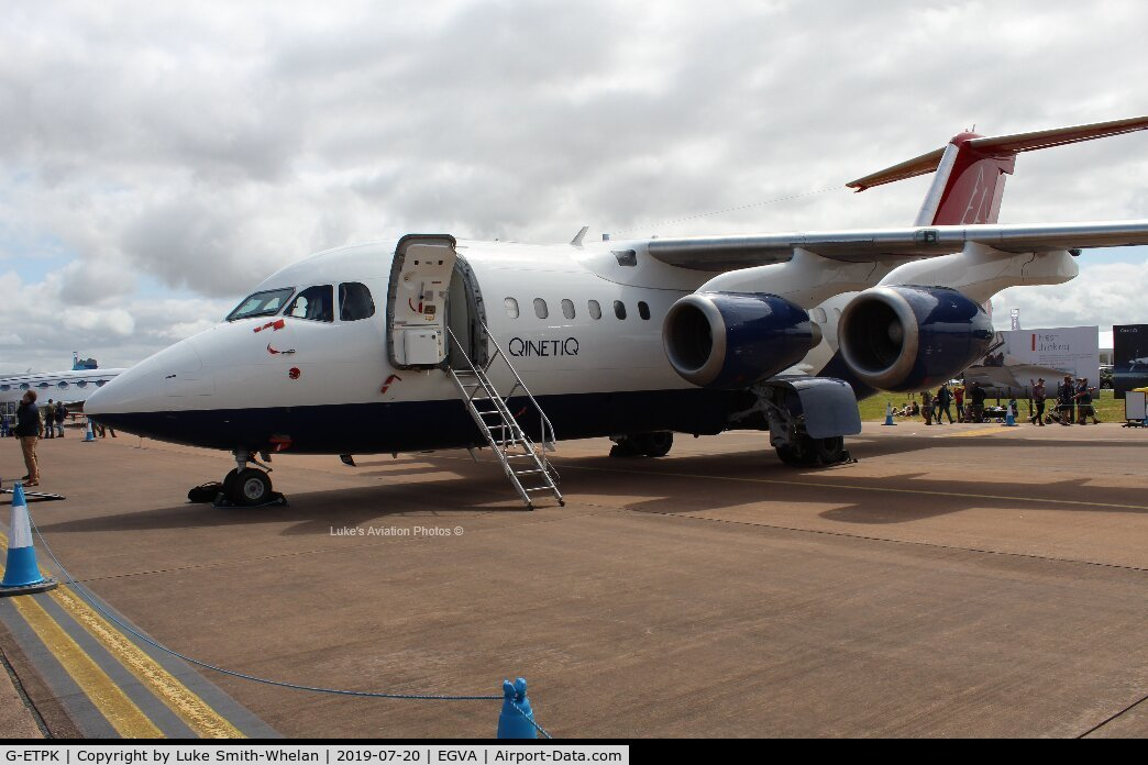 G-ETPK, 1994 British Aerospace Avro 146-RJ70 C/N E1254, At RIAT 2019