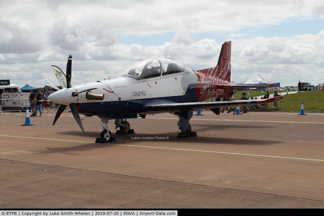 G-ETPB, 2017 Pilatus PC-21 C/N 311, At RIAT 2019