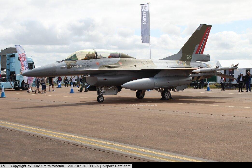 691, 1980 Fokker F-16B Fighting Falcon C/N 6L-10, At RIAT 2019